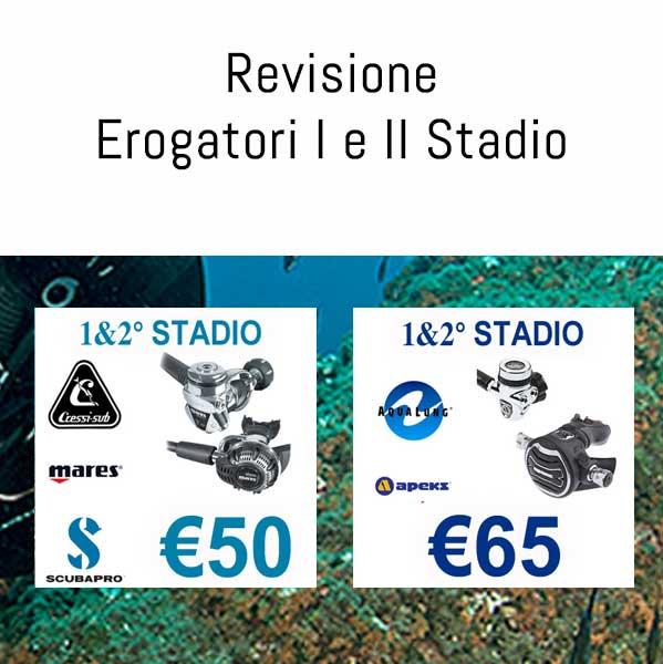Revisione Erogatori, Attrezzature Sub, Negozio Sub online